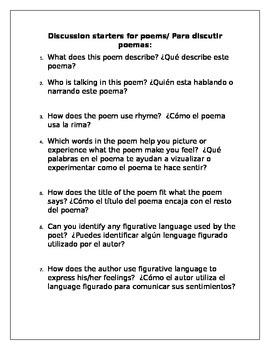 Kick start your bilingual class:poems