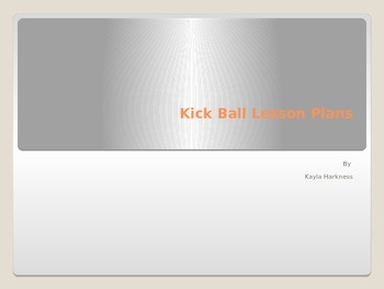 Kickball Lesson Plans