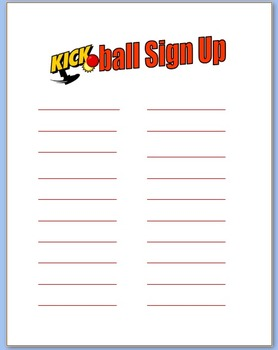 Kickball Sign Up