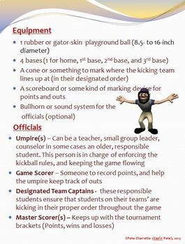 Kickball Tournament Resource