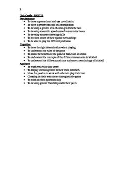 Kickball Unit Plan
