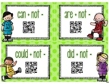 Kickin' Contractions [With Self-Checking QR Codes]