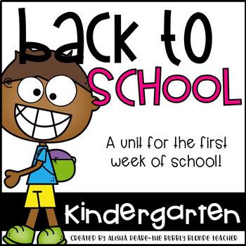 Back to School Kindergarten