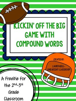 Kickin' Off with Compound Words {A Freebie with a Football Twist}