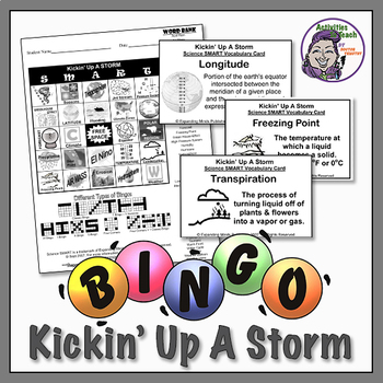 Kickin' Up a Storm - Earth Science Bingo about Weather