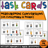 Kickin' it With Conversions: Customary and Metric Measurement QR Code Task Cards