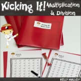 Math Facts Multiplication & Division Kicking It Math Fact Fluency Bundle