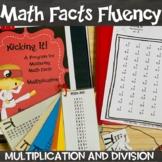 Math Facts Multiplication & Division Kicking It Math Fact Fluency Bundle