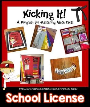 Math Facts Fluency Program - Kicking It Math School License