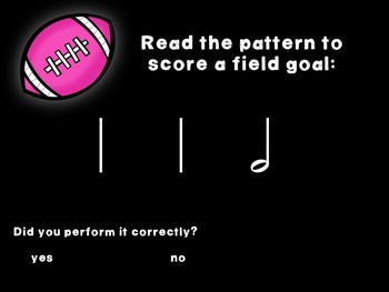 Kicking Practice: Field Goal Inspired Rhythmic Practice, half note