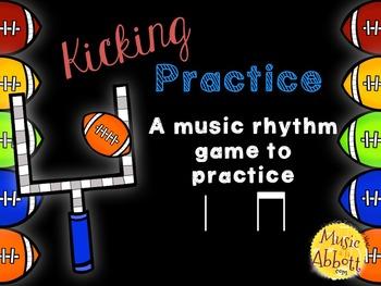 Kicking Practice: Field Goal Inspired Rhythmic Practice, ta ti-ti