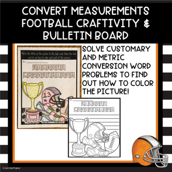 Kickoff Conversions Football Customary and Metric Craftivity and