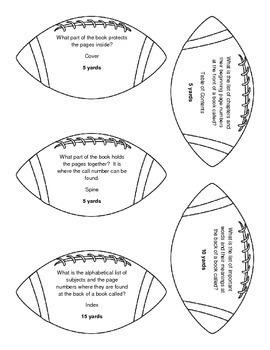 Kickoff to Fun!: Library Skills Football Review Game