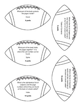 Kickoff to Fun!: Library Skills Football Review Game