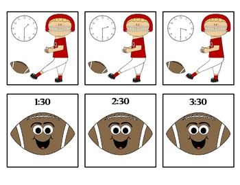 Kickoff to Learn Time! - Center Game - Time to the Hour and Half Hour