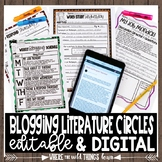EDITABLE Blogging Literature Circles {Technology Centered}