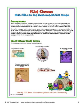 Kid Caves Math PBLs