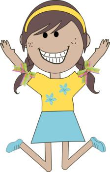 Kid/Children Clip Art - 10 Jumping Kids - commercial use ok