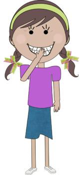Kid/Children Clip Art - 12 Kids - commercial use ok