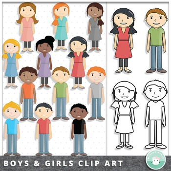 Kid Clip Art Boys and Girls