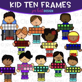 Kid Clip Art - Kids Ten Frames Clipart {jen hart Clip Art}