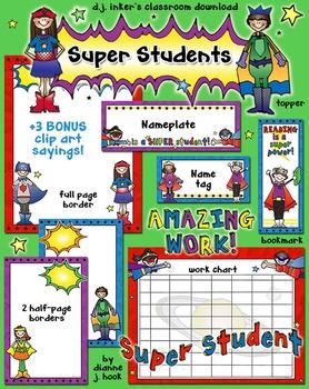 Super Students Classroom Borders & Printables