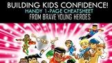 Kid Confidence Building Resource Cheatsheet!