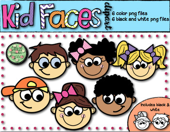 Kid Faces Clip Art