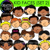 Kid Faces Clipart: Variety Set 2 {Kid Clipart}