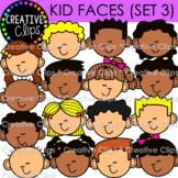 Kid Faces Clipart: Variety Set 3 {Kid Clipart}
