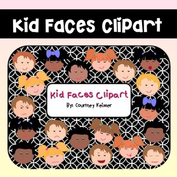 Kid Faces Clipart for Commercial Use