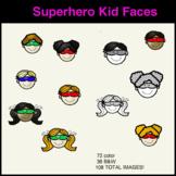 Kid Faces Superhero Clipart