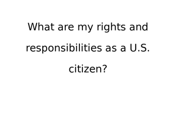 Kid Friendly Citizenship and Government Bulletin Board Standards