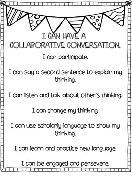 Kid Friendly Collaborative Conversation Poster