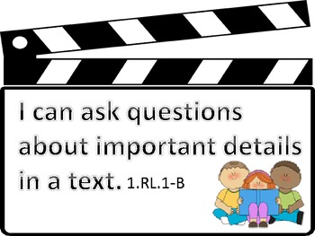 Kid Friendly Common Core 1st Grade ELA I Can Statements