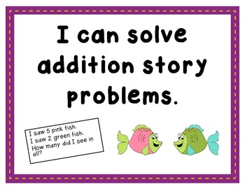 Kid-Friendly Common Core I CAN Statements for 1st Grade Math