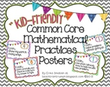 {Kid-Friendly} Common Core Mathematical Practices Posters