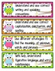 Kid-Friendly Common Core Standard Cards--Grade 1! {Bright Owls Theme}