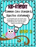 Kid-Friendly Common Core Standard Cards--Grade 2! {Bright