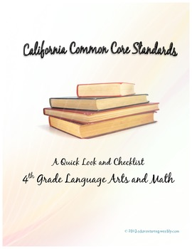 Kid Friendly Common Core Standards- A Quick Overview and Checklist