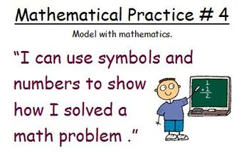 Kid-Friendly Common Core Standards for Math Practices
