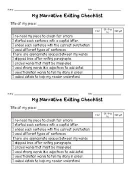 Kid Friendly Editing Checklist Bundle