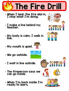 Kid Friendly Fire Drill Step by Step