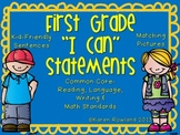 "Kid Friendly First Grade ""I Can"" Statements"