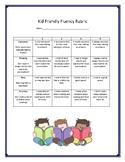 Kid Friendly Fluency and Comprehension Rubric