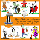 Kid Friendly Halloween Clip Art & Coloring Pages