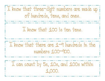 Kid Friendly I Can Math Common Core Standards