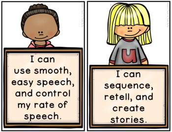 """Kid-Friendly """"I Can"""" Posters for Speech-Language Therapists"""