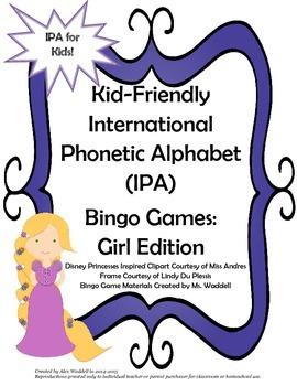Kid-Friendly IPA Bingo Games [Girl Edition]