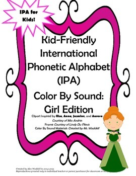 Kid-Friendly IPA Color By Sound [Girl Edition]